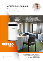 PATENTED AIR PURIFIER, FOR REMOVAL OF VIRUS AND BACTERIA